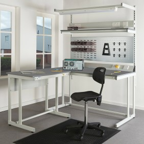 Cantilever ESD Workbenches