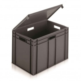 Euro Containers with Integral Lids
